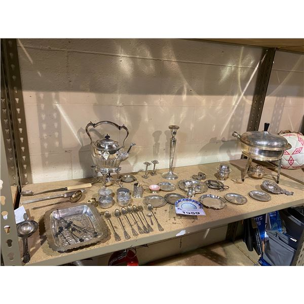 ASSORTED SILVER & SILVER PLATED DISHWARE