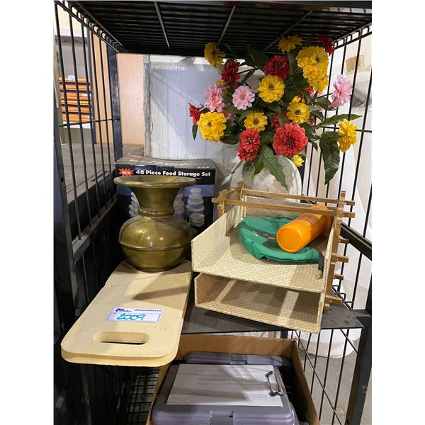 ASSORTED HOME DECOR & FOOD STORAGE CONTAINERS