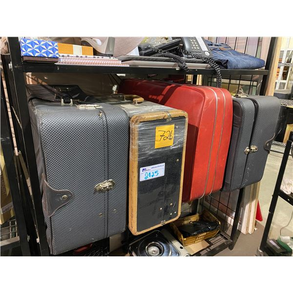 4 ASSORTED LUGGAGE CASES