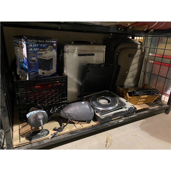HOUSEHOLD DECOR, BASKET, BLURAY PLAYER, HARD CASES, ARCTIC AIR COOLER, ETC