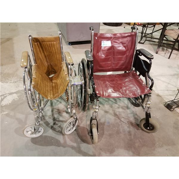 2 WHEEL CHAIRS