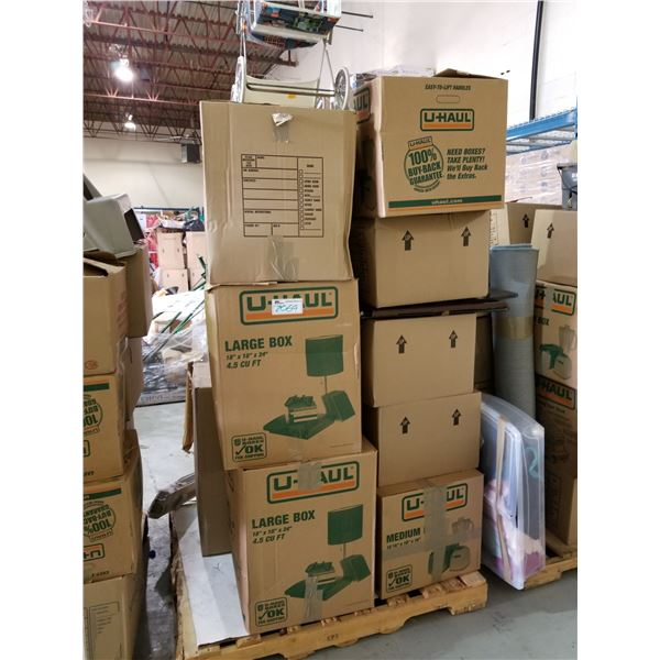PALLET OF ASSORTED STORAGE LOCKER GOODS (HOUSEHOLD ITEMS, PICTURES, ETC)