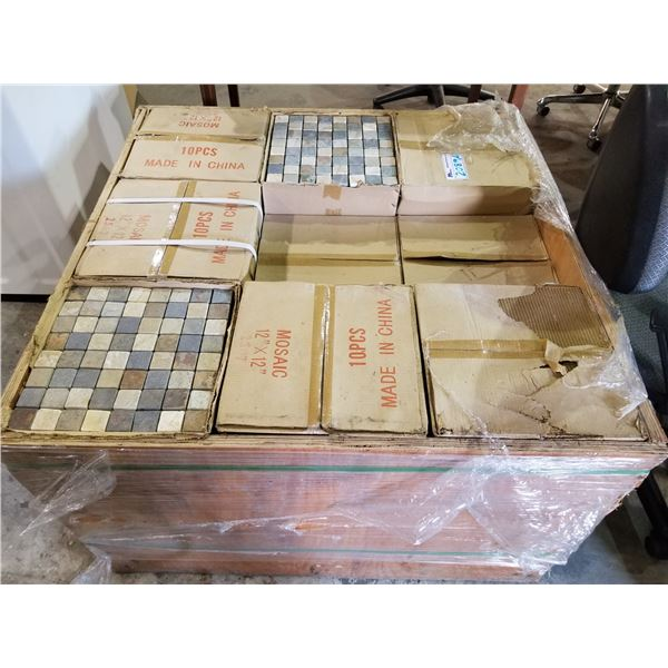 "PALLET OF MOSAIC 12X12"" TILES"