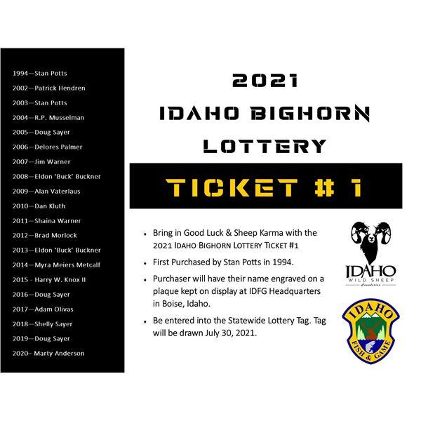 Idaho WSF Lottery Ticket #1