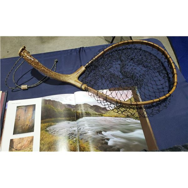 Antler handle Fish Net by Mike Beamish