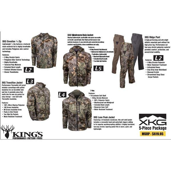 Kings Camo 5 piece clothing set