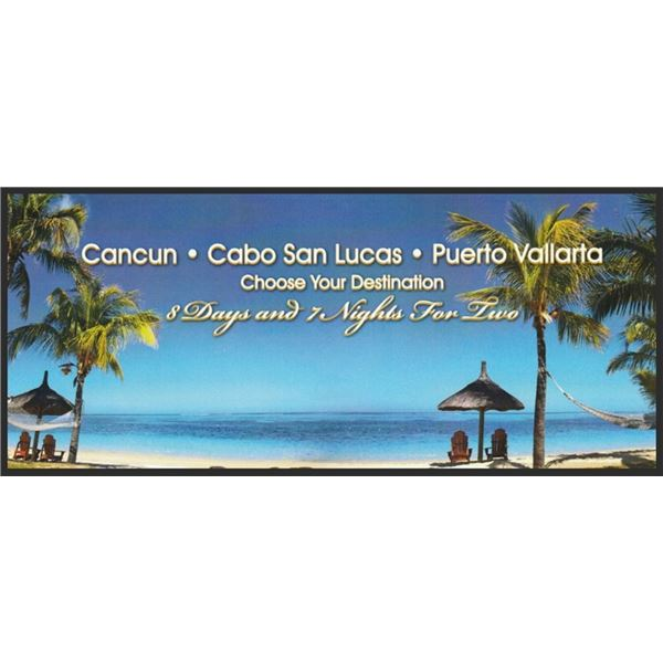 Mexico Vacation Hotel Accommodations- Choose Cancun, Cabo San Lucas, or Puerto Vallarta