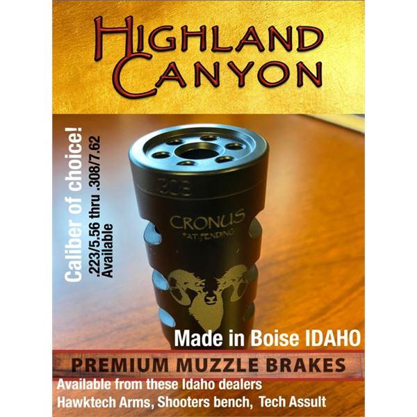 Highland Canyon Premium Muzzle Brake with Idaho WSF logo