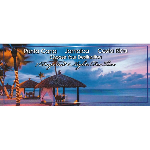 Caribbean Vacation Hotel Accommodations - Choose from Punta Cana, Jamaica or Costa Rica