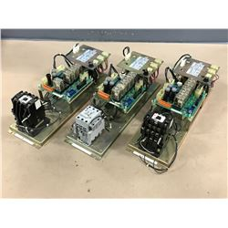 (3) YASKAWA JZNC-MTU02-2 POWER SUPPLY MODULE