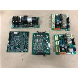 LOT OF YASKAWA MISC.CIRCUIT BOARD *SEE PICS FOR PART #'S*