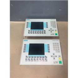 (2) - SIEMENS 6AV3627-1LK00-1AX0 OPERATOR PANELS OP27 COLOR