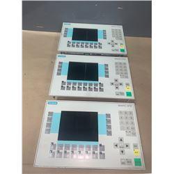 (3) - SIEMENS 6AV3627-1LK00-1AX0 OPERATOR PANELS OP27 COLOR