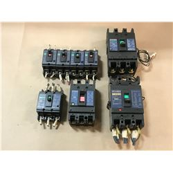 LOT OF MITSUBISHI CIRCUIT BREAKER *PART # PICTURED*