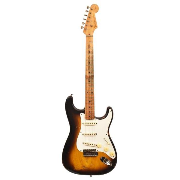 Ted Nugent's 1956 Fender Strat Tobaccoburst Guitar