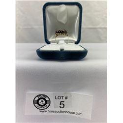 1960's Rose Cut Garnet Ring in Sterling Silver
