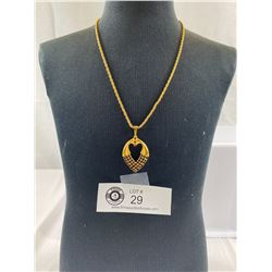Vintage Gold plated pendant with clow set