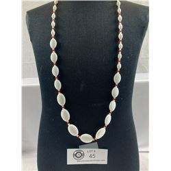 1940's Milk Glass Bead Necklace