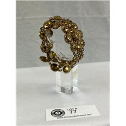 Etruscan Style Vintage Bracelet in Gold Tone