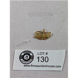 """14K Gold Pendant """"Taken"""" 1 Gram"""