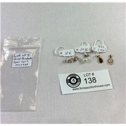 Lot of 5 Gold Pendants (Opal isn't marked)