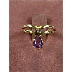 10k Amethyst Ring Size 4 1/4