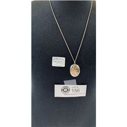 Sterling Locket and Chain