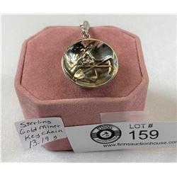 Sterling Gold Miner Keychain 13.19 Grams