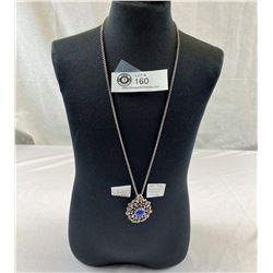 Silver & Lapis, Lazuli Necklace 34.14 Grams