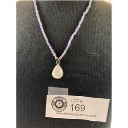 .925 Rainbow Moonstone Necklace Gemstone Beads