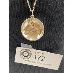 Sterling Gold Miner Necklace 13.66 Grams