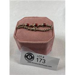 .925 Lady Bug Bracelet