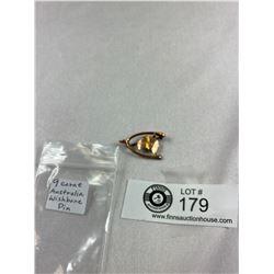 Vintage 9K Australia Wishbone Pin
