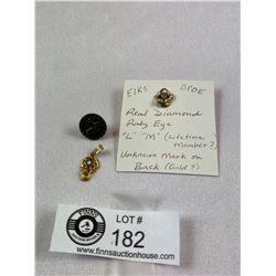 Vintage Order Of Elks 3 Piece Lot
