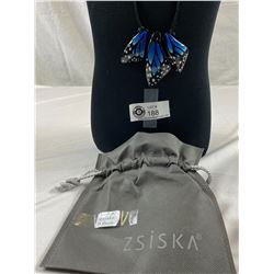 Designer Zsiska Butterfly Necklace In Pouch