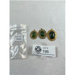 Lot Of 3 Beautiful Jade Pendants