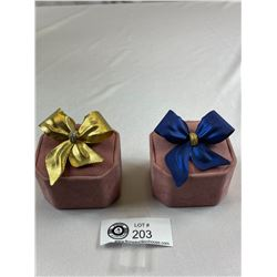 Pair Of 2 Bow Brooches