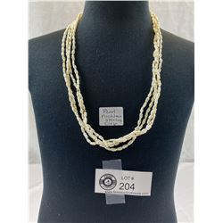 Beautiful Pearl Necklace With Sterling Clasp