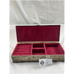 Beautiful Silver Plated Vintage Jewelry Box Made By International Silver Company