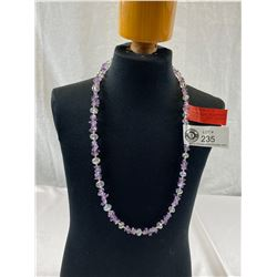 """Beautiful Amethyst Swarovski Elements Crystal Necklace, 24""""L With 925 Clasp"""
