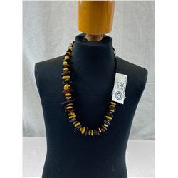 Beautiful Hand Made Amber Necklace With Sterling Silver Clasp