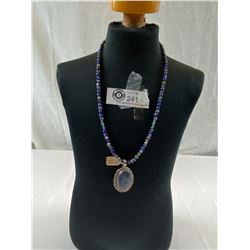 Very Nice Navajo Lapis And Turquoise Necklace And Pendant