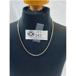 """16"""" Sterling Silver Necklace, 9g"""