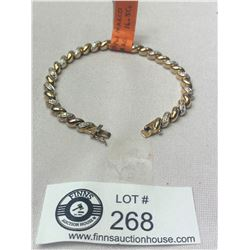 ".925 Ross Simons-San Marco Tennis Bracelet 7.5"" Nice Clasp 16.5 gr"