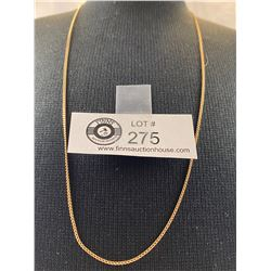 """Beautiful 10K Gold 24"""" Curb Link Chain"""