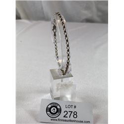 ".925 Cable Link Bracelet 7.5"""