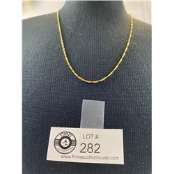 """Marked 417 10k Gold 18"""" Necklace"""