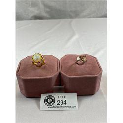 2 Lovely Dinner Rings Size 6 and 8