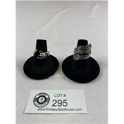 2 Cute Rings. Caat is 6.5 and Spoon is 8