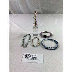 Lot of 5 Beautiful Beaded Bracelets